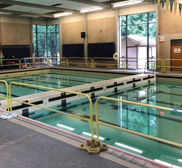 Redmond Pool under construction