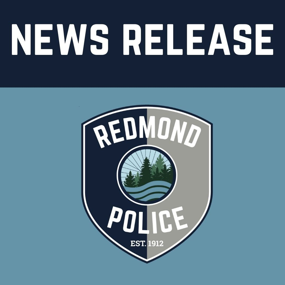 News Release graphic with police patch