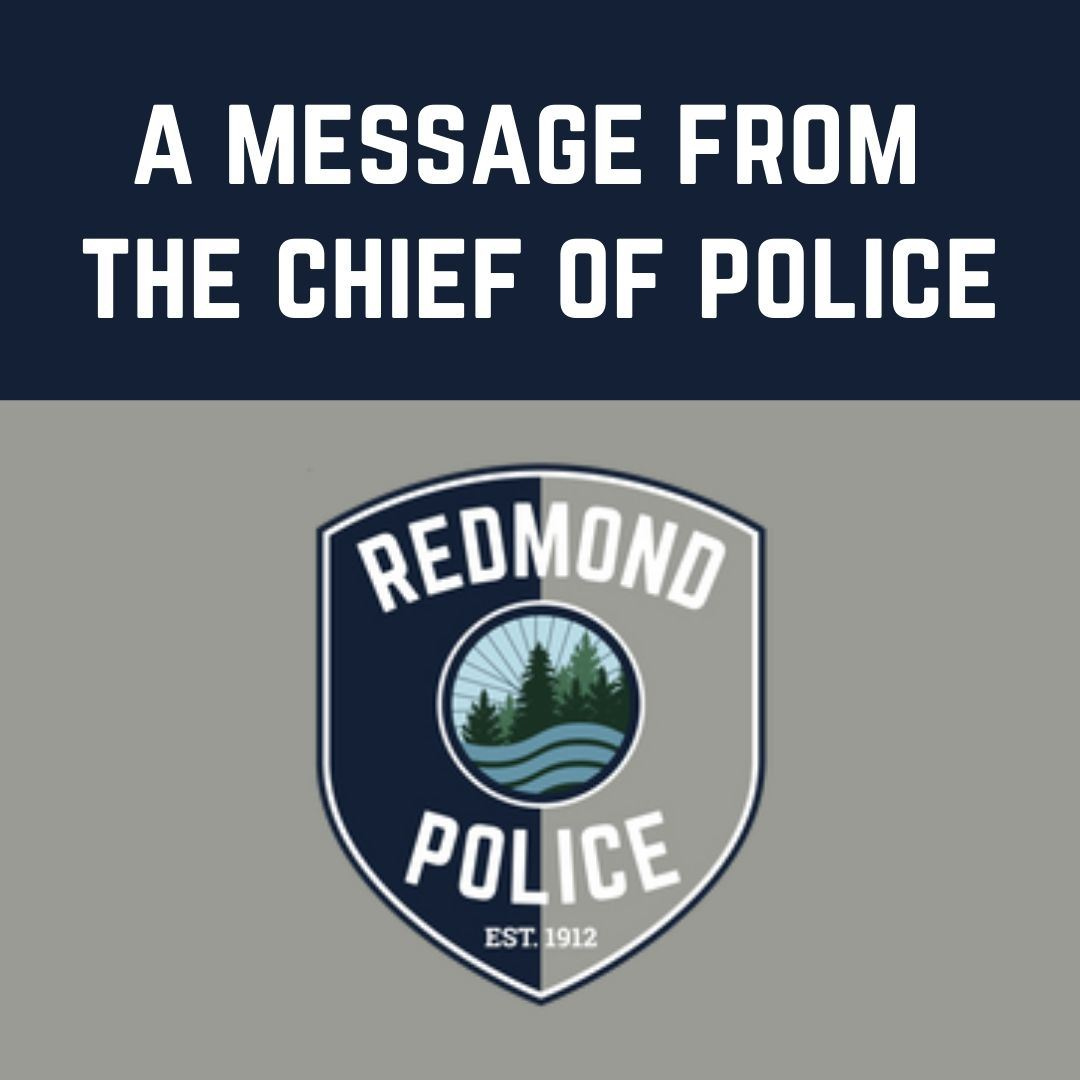 Message from Chief of Police graphic
