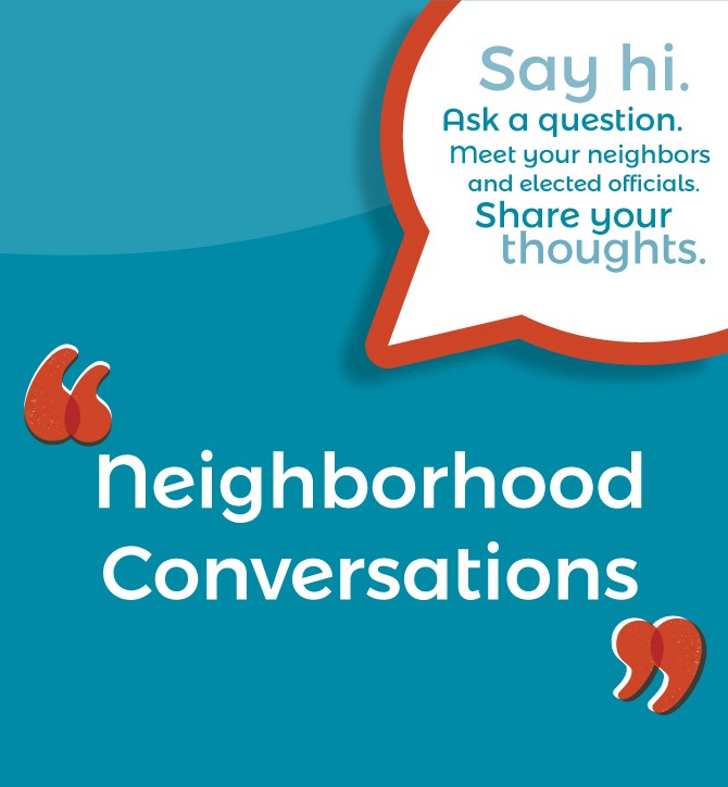 Neighborhood Conversations Poster 2019