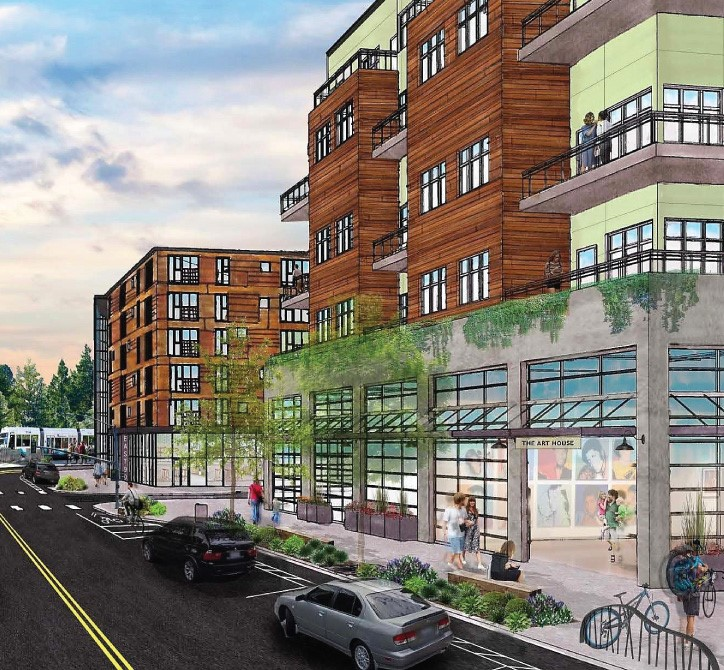 Concept rendering of Marymoor Village