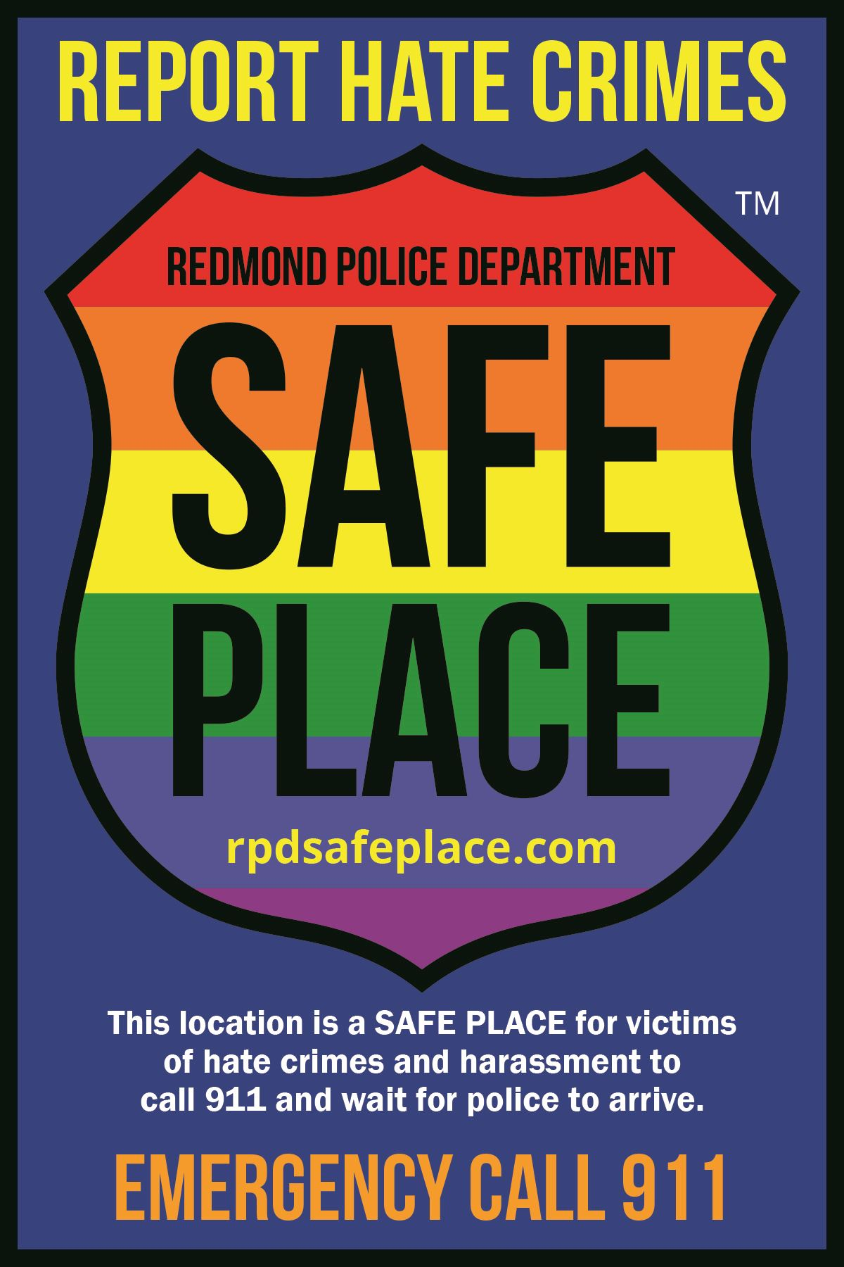 RPD Safe Place decal