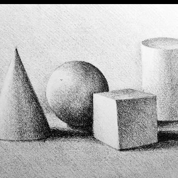 Shapes Sketched in Pencil